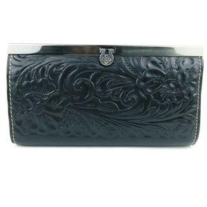 Patricia Nash Le Fleurs Tooled Leather Wallet